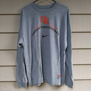 Mens Oregon State Football Long Sleeve Shirt